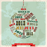 Vintage Happy New year 2013 bauble. Vintage Happy New year 2013 concept numbers in bauble shape. Vector illustration layered for easy manipulation and custom vector illustration