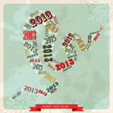 Vintage Happy New year 2013 concept snake. Vintage Happy New year 2013 concept numbers in snake shape. Vector illustration layered for easy manipulation and Royalty Free Illustration