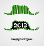 Vintage Happy New year 2013 concept snake. Vintage Happy New year 2013 concept number in snake shape. Vector illustration layered for easy manipulation and Stock Photos
