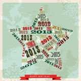 Vintage Happy New year 2013 star. Vintage Happy New year 2013 concept numbers in star shape. Vector illustration layered for easy manipulation and custom royalty free illustration