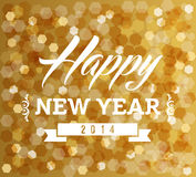 Vintage Happy new year blur lights design Stock Photos