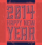 Vintage Happy new year 2014. Card - poster - eps available Royalty Free Stock Photography