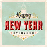 Vintage Happy New Year card Royalty Free Stock Photography