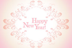 Vintage happy new year greeting background - eps10 vector Royalty Free Stock Photography