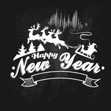 Vintage Happy New Year label, badges and design Royalty Free Stock Images