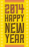 Vintage Happy new year 2014 sign. Vector available Stock Photos