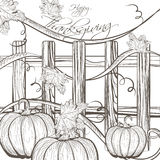 Vintage Happy Thanksgiving Card Royalty Free Stock Images