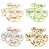 Vintage Happy Thanksgivings day. EPS 10 Stock Image