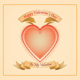 Vintage Happy Valentine's Day background Stock Photos