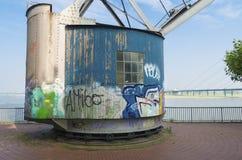 Vintage harbor crane Stock Photography