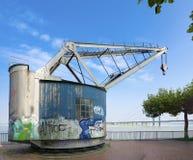 Vintage harbor crane Royalty Free Stock Photos