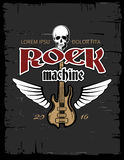 Vintage hard rock vector poster, flyer, t-shirt design Royalty Free Stock Photography
