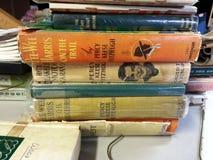 Vintage hardback books Stock Photos
