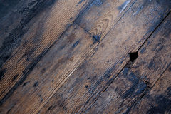 Vintage Hardwood Floors. Hardwood floors background from a rustic historic building Stock Photography