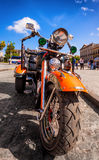 Vintage Harley Davidson in Havana Stock Photos