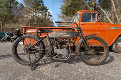 Vintage Harley Davidson royalty free stock photography