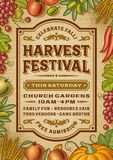 Vintage Harvest Festival Poster Stock Photos