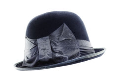 Vintage hat with a bow Royalty Free Stock Photos