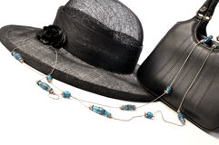 Vintage hat and handbag Stock Images