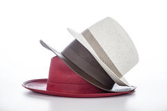 Vintage hat. Image is posed on white background Stock Image
