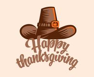 A vintage hat for Thanksgiving. royalty free illustration