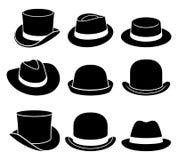 Vintage hats icons. Vector illustration royalty free illustration