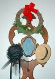 Vintage Hats and Wreath Stock Image