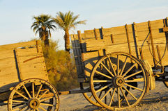 Vintage Hauling Wagons. To Transfer Borax from Mines in Death Valley, California Stock Photography