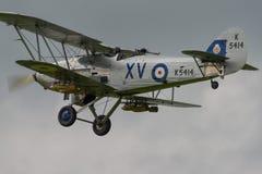 Vintage Hawker Hind bi-plane Royalty Free Stock Photos