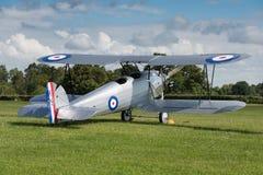 Vintage Hawker Tomtit bi-plane Stock Photos
