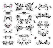 Vintage headers (black and white) Royalty Free Stock Images