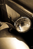 Vintage Headlight. A view of the headlight of a vintage car Stock Photos