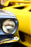 Vintage headlight Stock Photos