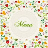 Vintage healthy food menu background Royalty Free Stock Images