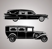 Vintage Hearses Royalty Free Stock Photo