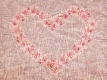 Vintage heart background Stock Photography