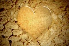 Vintage heart background stock images
