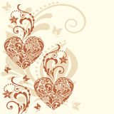 Vintage heart  background. Stock Photos