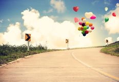 Vintage with heart balloon royalty free stock photo