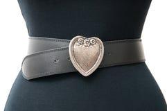 Vintage heart belt Stock Photos