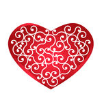Vintage Heart design logo Royalty Free Stock Images