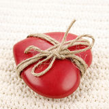 Vintage heart gift Stock Photography