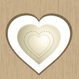 Vintage heart hanging from wood Royalty Free Stock Photography