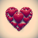 Vintage heart illustration -  Stock Photography