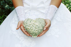 Vintage Heart In Hands Royalty Free Stock Photography