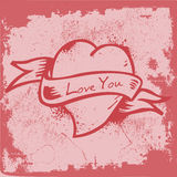 Vintage Heart Label Royalty Free Stock Image