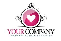 Vintage Heart Logo royalty free illustration