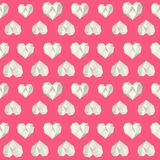 Vintage heart polygon pink pattern Royalty Free Stock Image