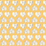 Vintage heart polygon yellow pattern Royalty Free Stock Image