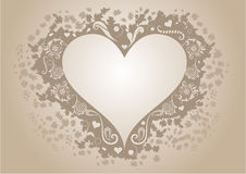Vintage heart shaped frame Stock Image
